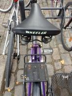 The Wheeler bike's saddle