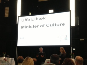 Danish Minister For Culture, Uffe Elbaek