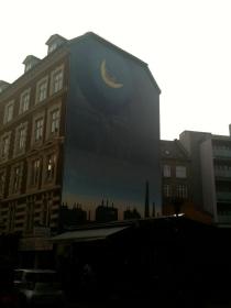 Impressive mural next to Granola on Værnedamsvej