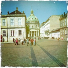 The impressive Amalienborg square