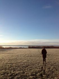 A quick walk before breakfast