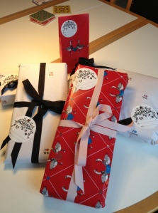Beautifully wrapped presents from Magasin