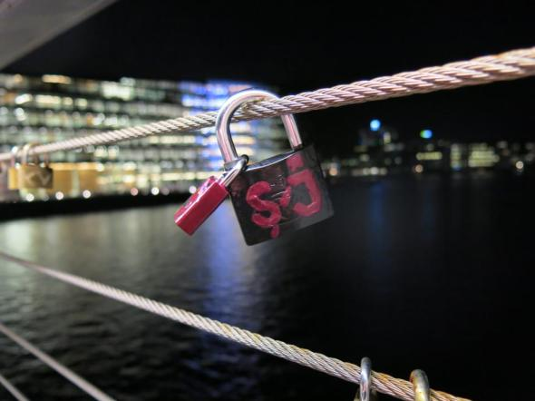 Sean & Julie's bridge padlock