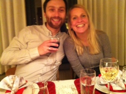 Dorte and I at the Christmas table