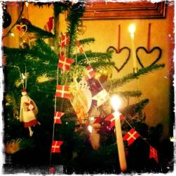 Danish flags on the Danish tree