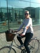 Dorte's version of Copenhagen cycle chic