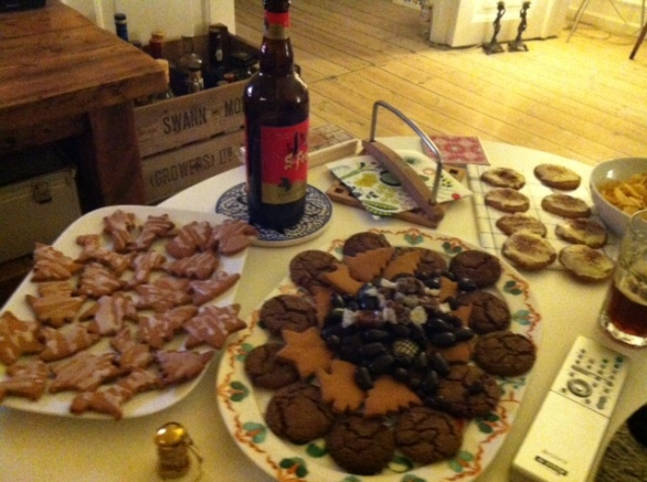 Our cookie bonanza with Eric & Cecelia