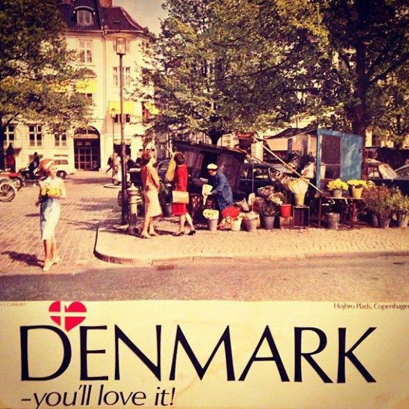 A vintage Denmark tourism poster