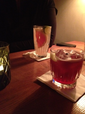 A couple of our cocktails at Lidkoeb