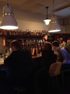 The wooden bar at Lidkoeb