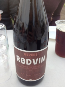 Meyer's red wine - looked better than it tasted, unfortunately.