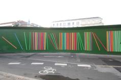 Building site art on Sønder Blvd's metro site