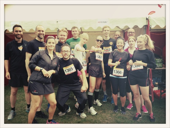 The AdTomic DHL team - me on the far left