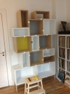 The Muuto shelves in mid construction