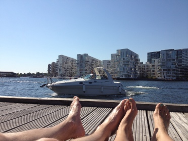 Watching the world go by, on its yacht