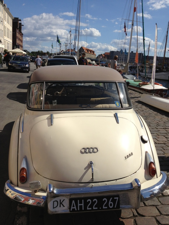 Vintage Audi on Nyhavn