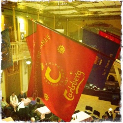 The Carlsberg flag in the Worker's Museum