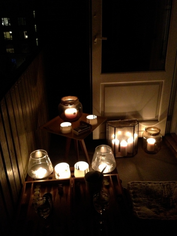 Balcony candles