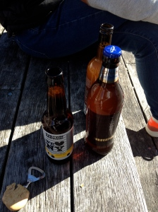 An Adnams and an Evil Twin beer on Saturday lunchtime