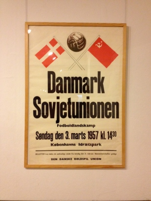 Old football poster at the Worker's Museum
