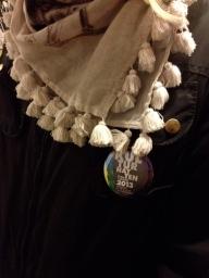 A Kulturenattern badge in action
