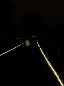 The lights along the paths to Rosenborg