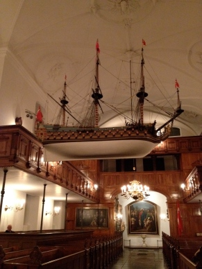 Model ship in Holmens Kirke