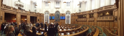 Panoramic shot of the parliament courtesy of the new iPhone camera. Nice.