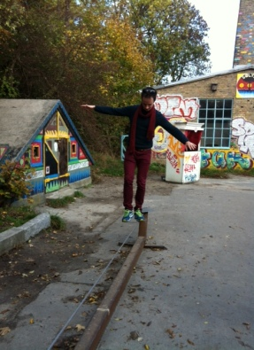 Tim tries his skills in Christiania