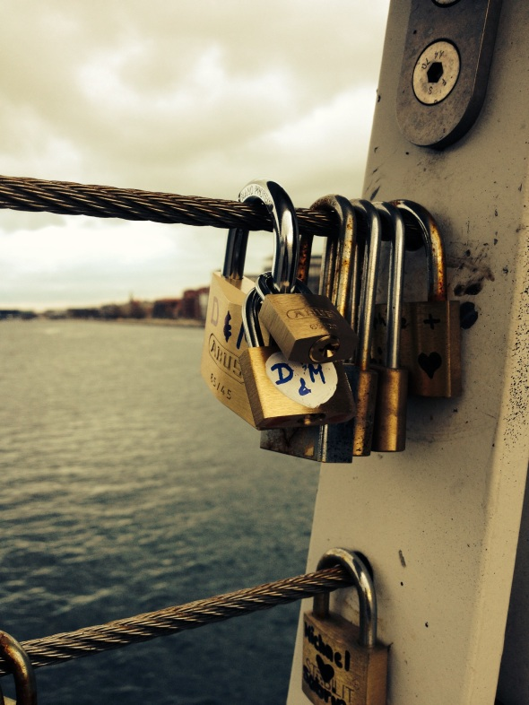 Our padlocks on the bridge