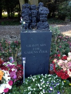 The gravestone for all of the homeless people buried at Assistens