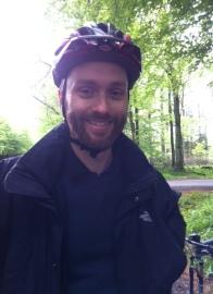 Me. In a helmet.
