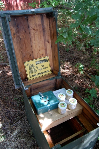 Coming across honey for sale in the forest