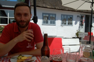 Old school Danish lunch in the shade