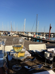 Dinner at a nearby harbour town