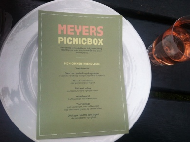 The picnic menu (in Danish, obvs)